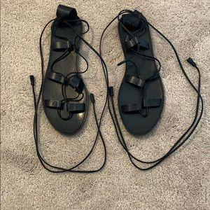Madewell strap sandal size 10